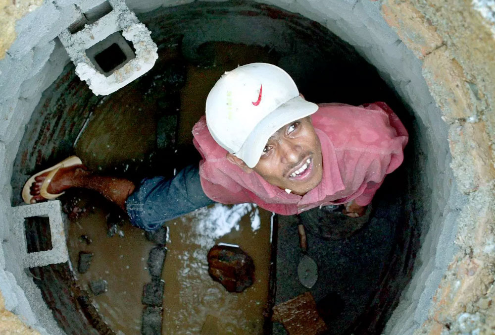 The harsh reality of life for India's 5 million sanitation workers